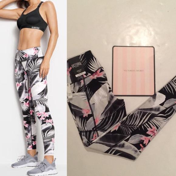 13674440bc300 Victoria's Secret Pants | Victoria Secret Sport Floral Knockout ...